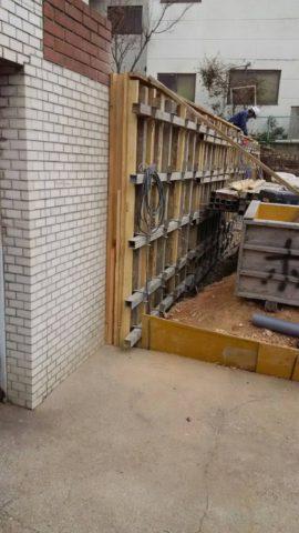 愛知県名古屋市の新築の擁壁工事が完了しました。