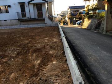 愛知県大府市の宅地造成工事東側(接道側)