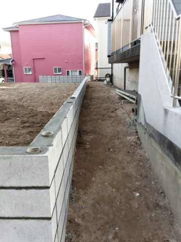 愛知県大府市の宅地造成工事西側