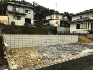 岐阜県可児市の宅地造成・擁壁工事が完了しました。