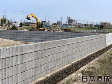 稲沢市 A様邸の造成・一次外構工事施工写真 日本造成