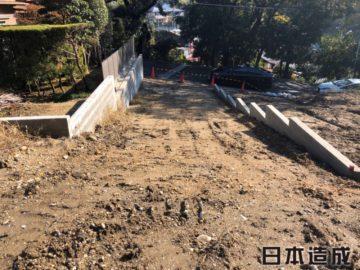 名古屋市名東区S様邸、造成工事出入口完了写真
