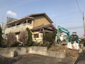 (zousei)nagoya minatoku 名古屋市港区I様邸の解体工事始まりました。 日本造成 名古屋エリア