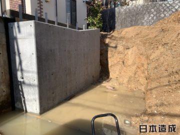 2メートル未満の擁壁工事となります。名古屋市緑区にて撮影