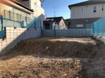 愛知県名古屋市千種区のS様邸の新築造成工事が終了いたしました。
