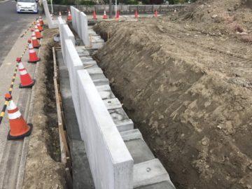 名古屋市港区I様 擁壁工事 コンクリート二次製品 L字型擁壁
