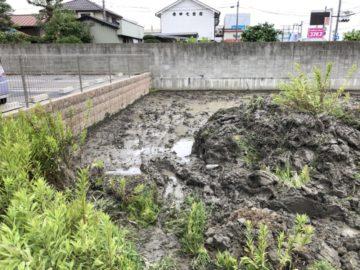海部郡大治町 S様 田んぼ 宅地造成 泥濘の様子