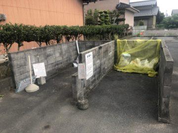 岐阜県可児市 I様 アパートゴミステーション移設解体工事前写真