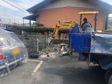 岐阜県可児市 I様 アパートゴミステーション移設解体工事写真