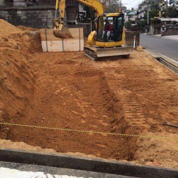 名古屋市守山区 掘削整地の宅地造成工事が完了いたしました。